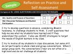 reflection on practice and self assessment1