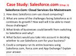 case study salesforce com chap 5 salesforce com cloud services go mainstream