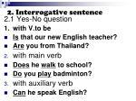2 interrogative sentence