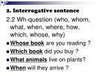 2 interrogative sentence1