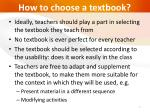 how to choose a textbook