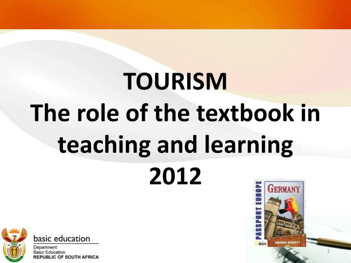 tourism the role of the textbook in teaching and learning 2012 n.