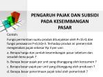 pengaruh pajak dan subsidi pada keseimbangan pasar1