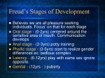 freud s stages of development