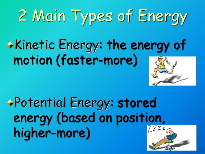 2 Main Types of Energy