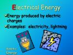 e lectrical energy