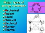 major types of energy remember