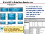 2 using mdm for global master data integration