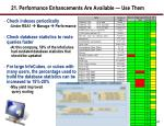 21 performance enhancements are available use them