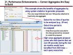 21 performance enhancements correct aggregates are easy to build