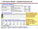 7 sap solutions manager earlywatch performance info