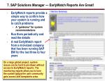 7 sap solutions manager earlywatch reports are great