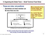 9 organizing the global team small technical team roles