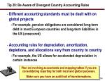 tip 29 be aware of divergent country accounting rules