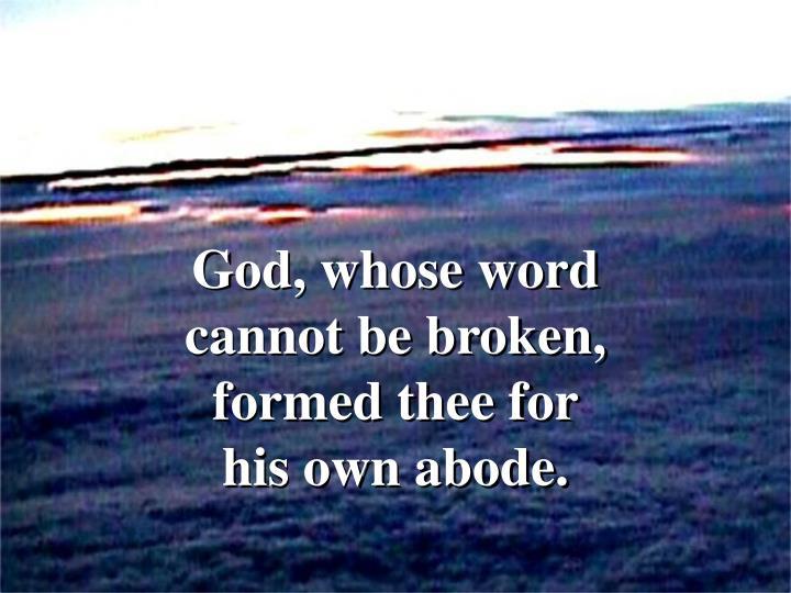 God, whose word