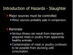 introduction of hazards slaughter2