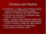 christians and muslims
