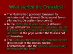 what started the crusades