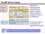 the sap bi core toolset