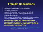 franklin conclusions