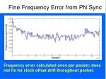 fine frequency error from pn sync