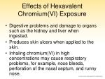 effects of hexavalent chromium vi exposure