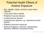 potential health effects of arsenic exposure