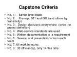 capstone criteria