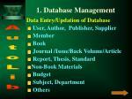 1 database management