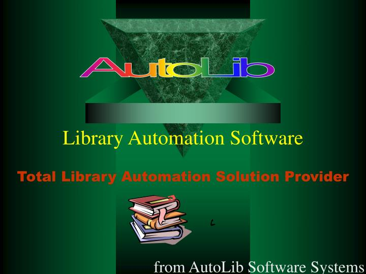 library automation software n.
