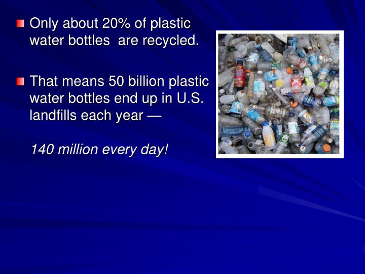Only about 20% of plastic