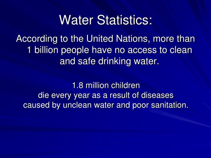 Water statistics