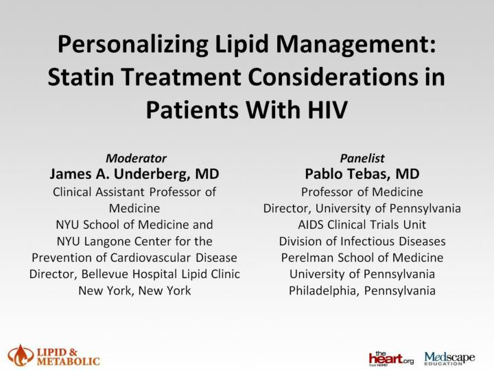 personalizing lipid management statin treatment considerations in patients with hiv n.