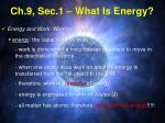 ch 9 sec 1 what is energy
