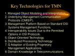 key technologies for tmn