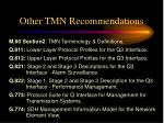 other tmn recommendations