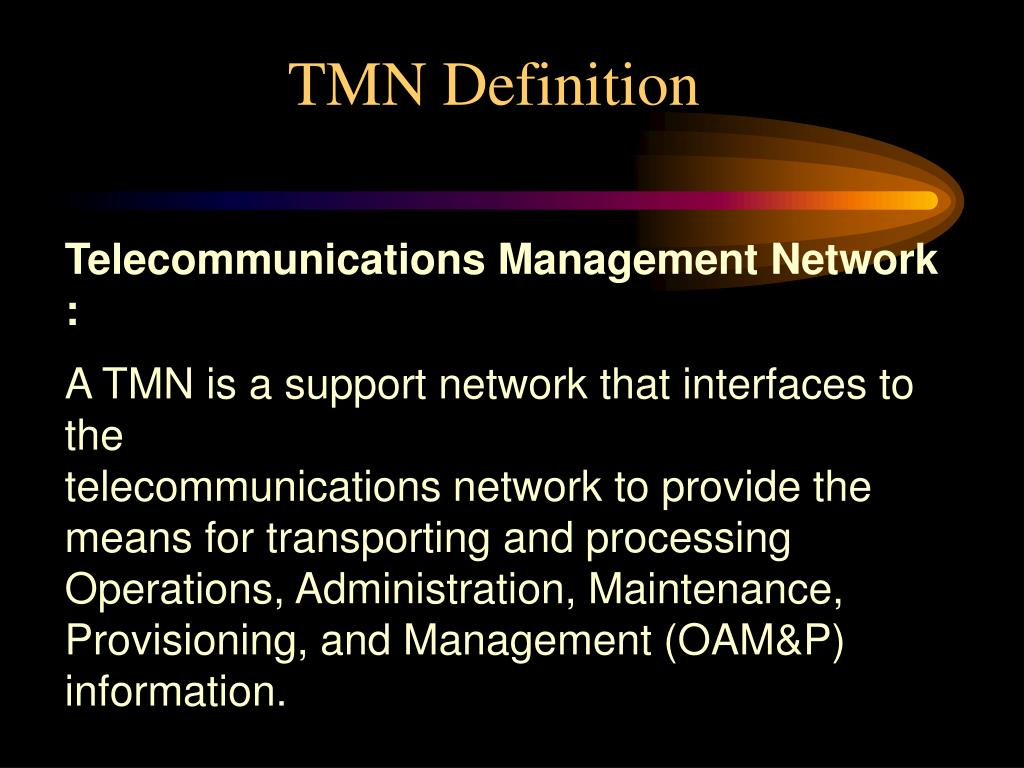 PPT - Introduction to TMN - Telecommunications Management