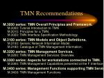 tmn recommendations