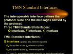 tmn standard interfaces