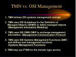 tmn vs osi management