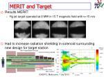 merit and target