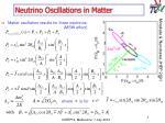neutrino oscillations in matter