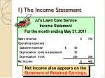 1 the income statement