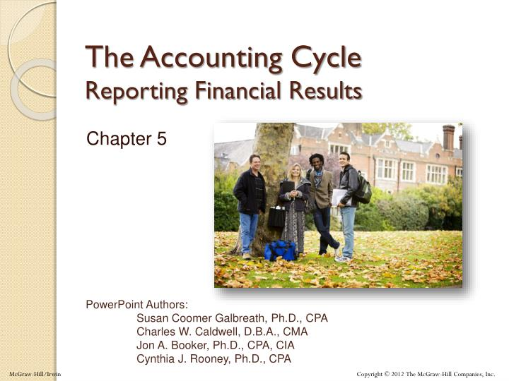 the accounting cycle reporting financial results n.