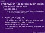 freshwater resources main ideas2