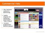 commercial risks