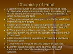 chemistry of food