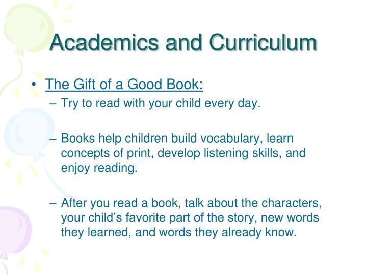 Academics and Curriculum