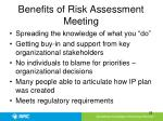 benefits of risk assessment meeting