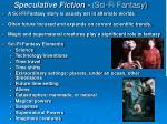 speculative fiction sci fi fantasy